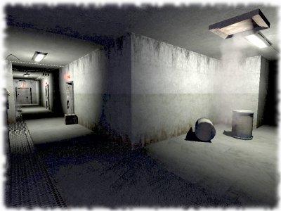Die Gänge der alten Bunkeranlage in Penumbra