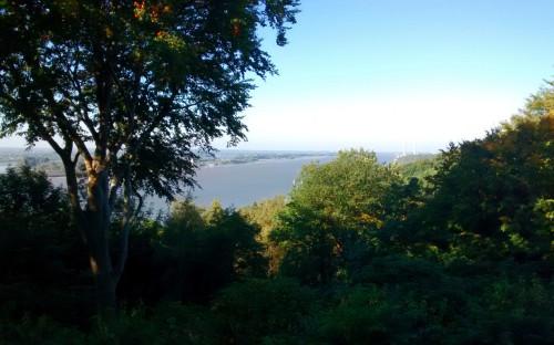 Ausblick von einem Hügel neben dem Süllberg