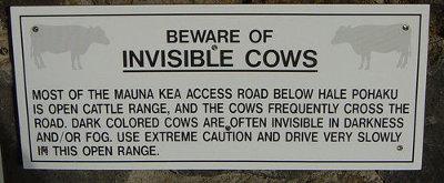 KHüte dich vor unsichtbaren Kühen. - Fotos von: Alex Avriette - Lizenz: CC-by-nc 2.0